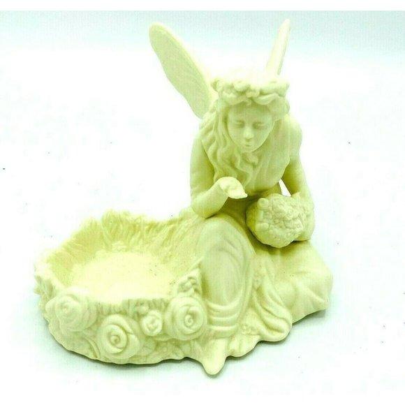 Partylite Angel Blowing Figurine Tealight Holder